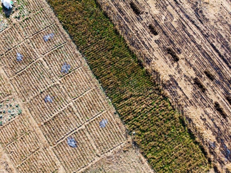 等待新的农业季节的空的农场土地 库存照片
