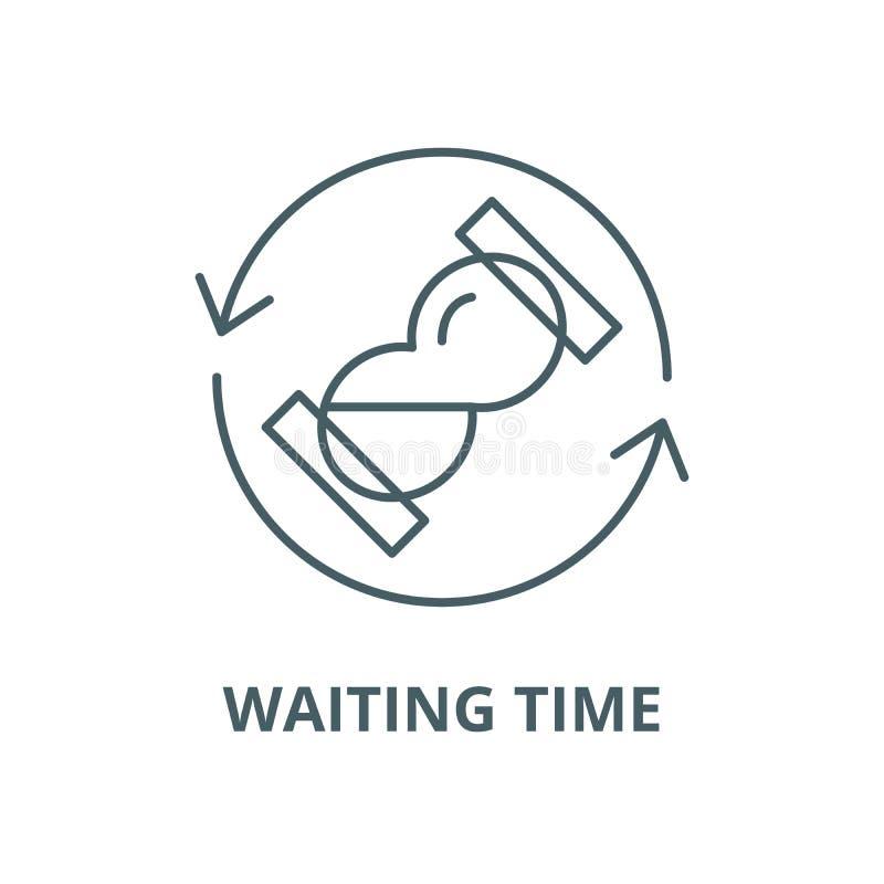 等待时间传染媒介线象,线性概念,概述标志,标志 皇族释放例证