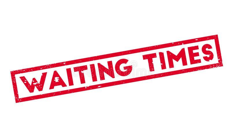 等待时间不加考虑表赞同的人 库存例证