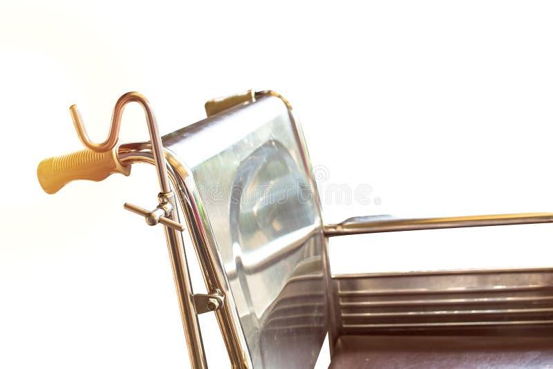 等待服务的轮椅 阳光拷贝空间 免版税库存图片