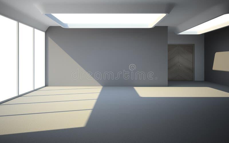 等待的房客的空的室 向量例证