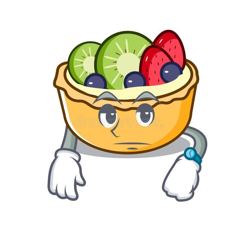 等待的果子酸的吉祥人动画片 向量例证