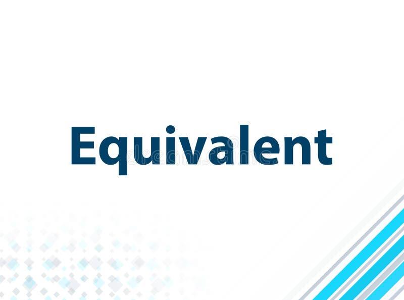 等效现代平的设计蓝色抽象背景 库存例证