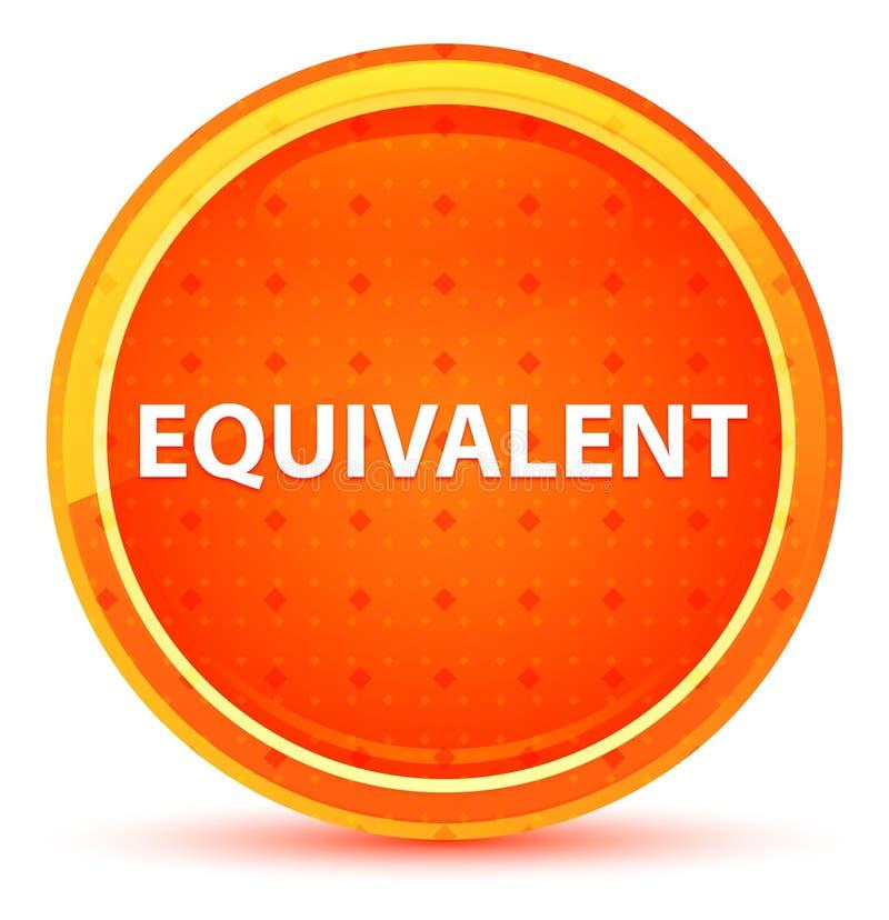等效自然橙色圆的按钮 库存例证