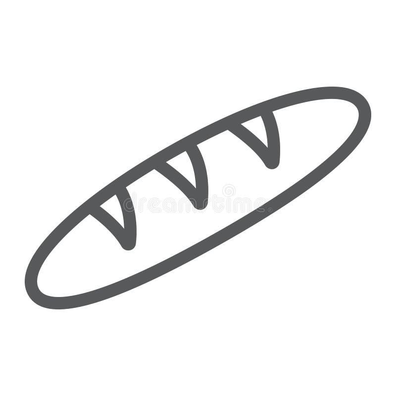 等救济队伍象,食物和面包店,长方形宝石标志,向量图形,在白色背景的一个线性样式 库存例证