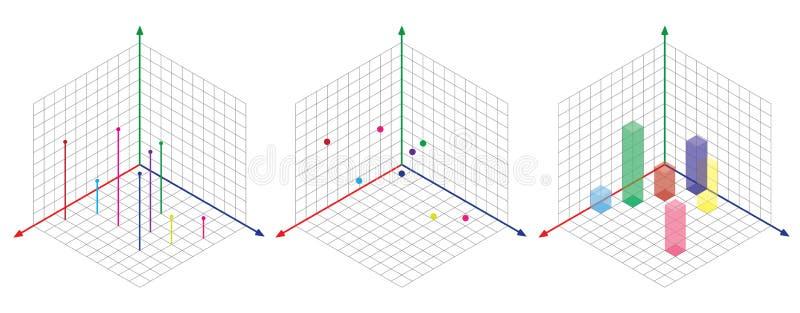 等角图三十degreesangle被应用于它的边 立方体在对面 等量栅格传染媒介 向量例证