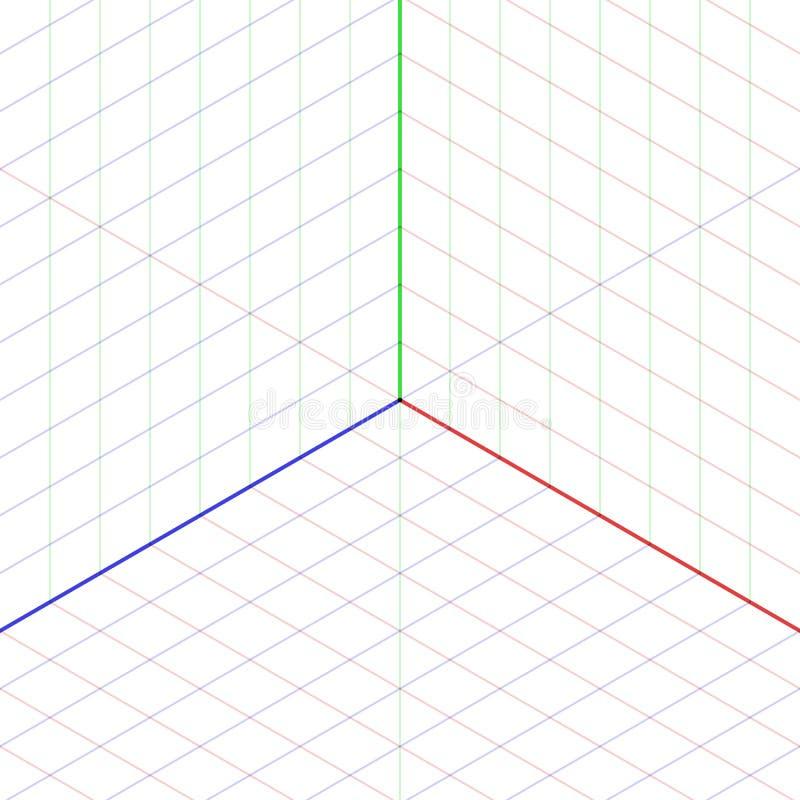 等角投影背景 库存例证