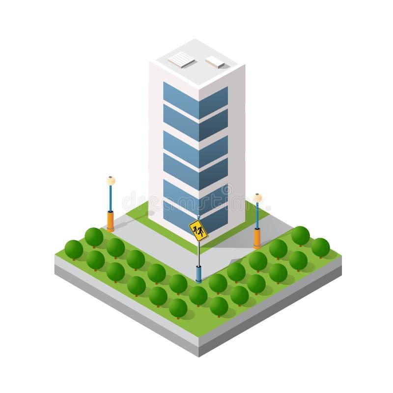 等距3D模块 向量例证