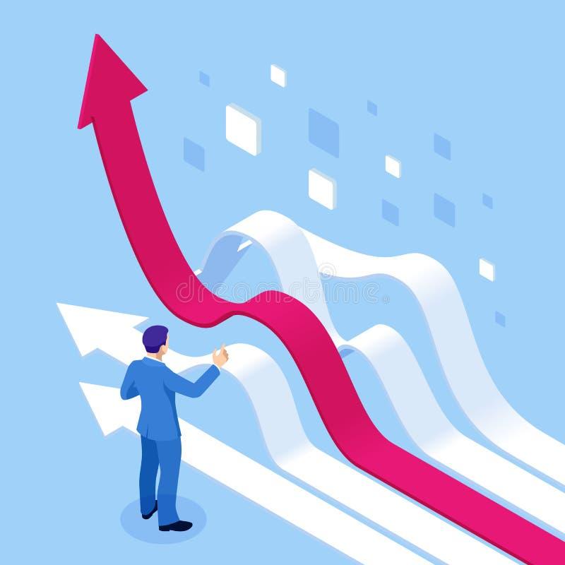 等量企业逻辑分析方法和财政技术,数据形象化概念 企业逻辑分析方法技术使用 向量例证