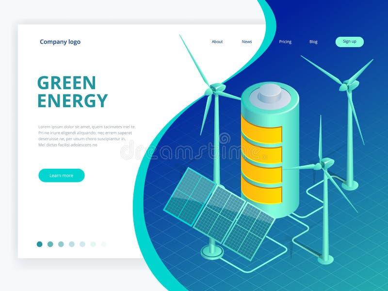 等量供选择的eco绿色生态,能承受,环境概念 绿色世界了悟传染媒介例证 向量例证