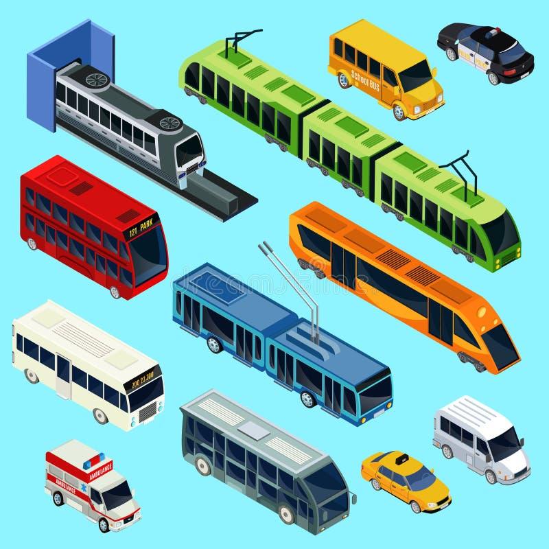 等量公共交通工具集合 皇族释放例证