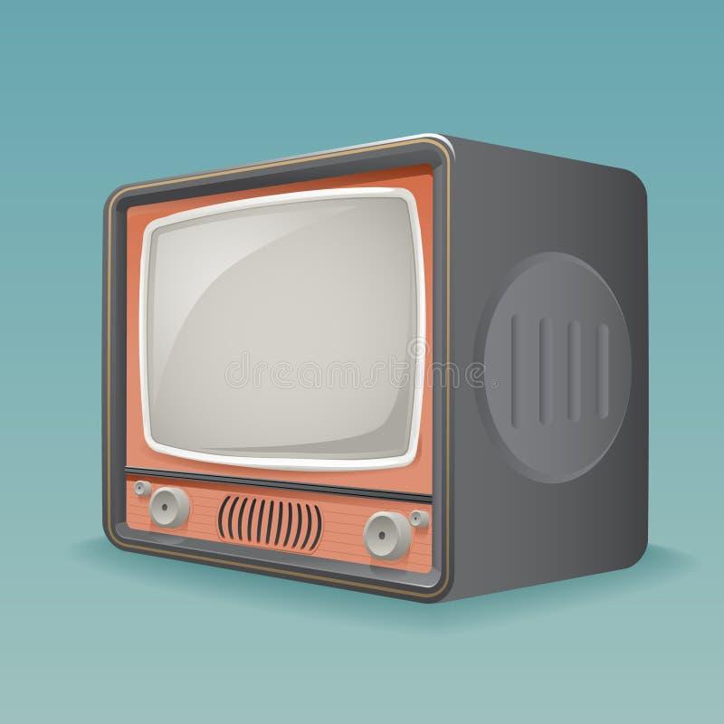 等量减速火箭的葡萄酒老电视占位符框架象现实3d平的设计模板传染媒介例证 皇族释放例证