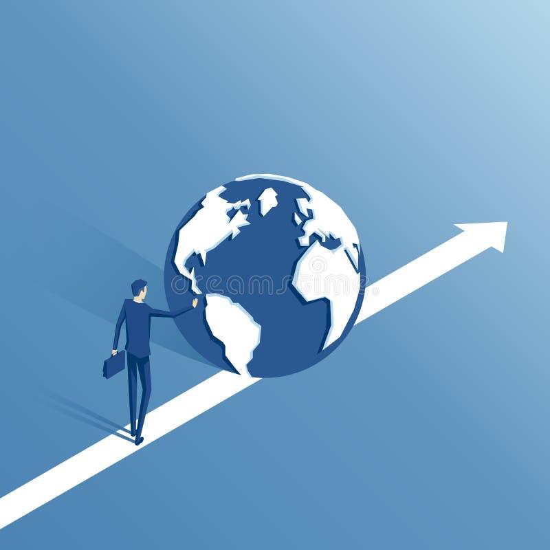 等量商人和地球 向量例证