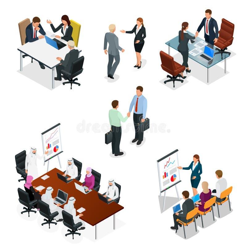 等量商人谈的会议会议室 队工作过程 业务管理配合会议和 皇族释放例证