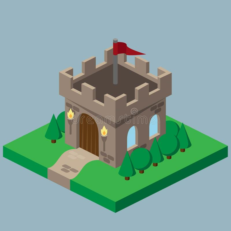等量城堡艺术 向量例证