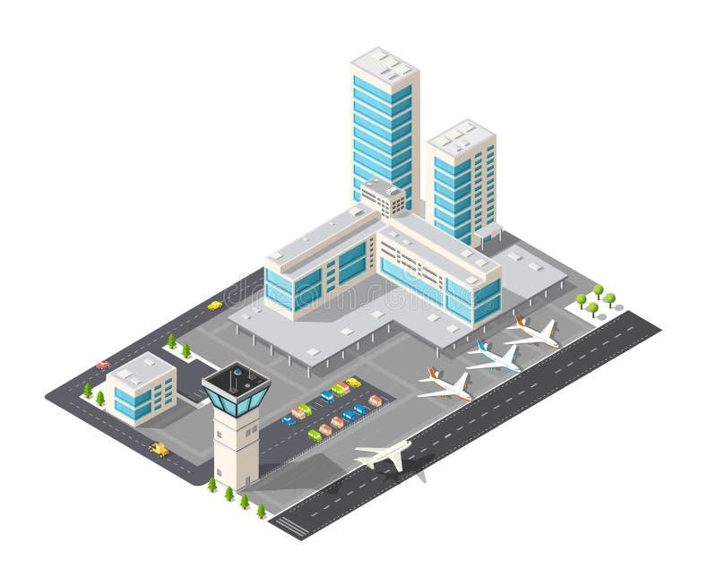 等量城市机场 库存例证