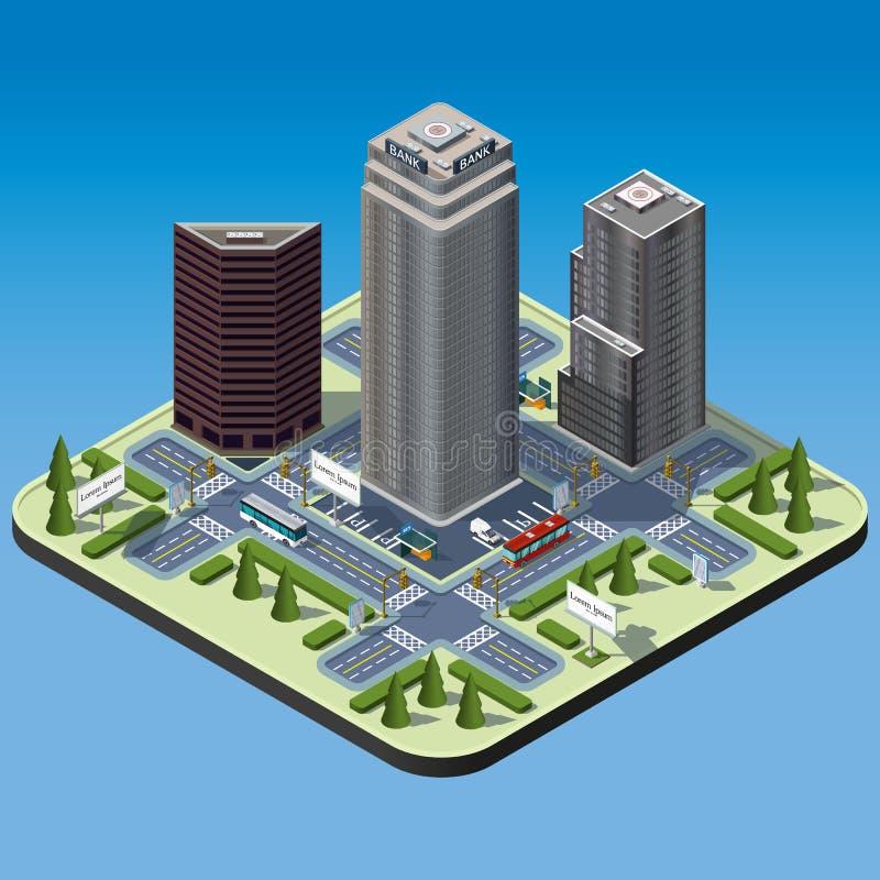 等量城市 库存例证