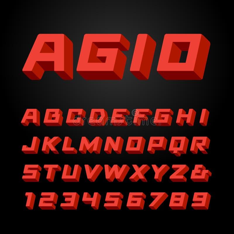 等量字体 scrapbooking向量的字母表要素 向量例证