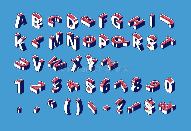 等量字母表、数字和标点符号 向量例证
