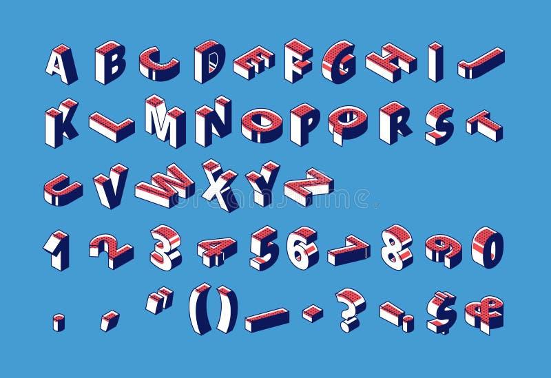 等量字母表、数字和标点符号 库存例证
