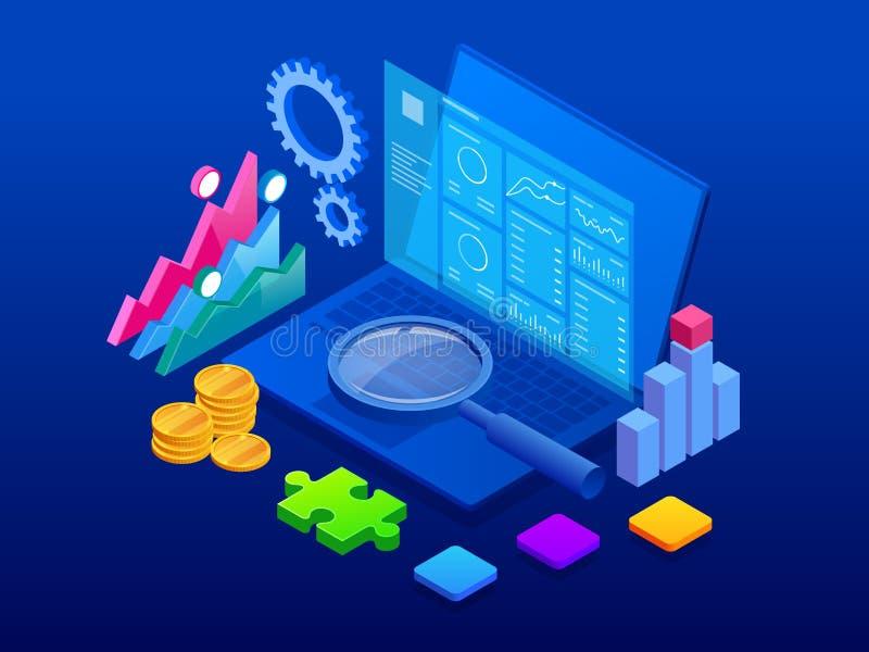 等量客户关系管理网横幅 顾客关系管理概念 企业互联网技术传染媒介例证 向量例证