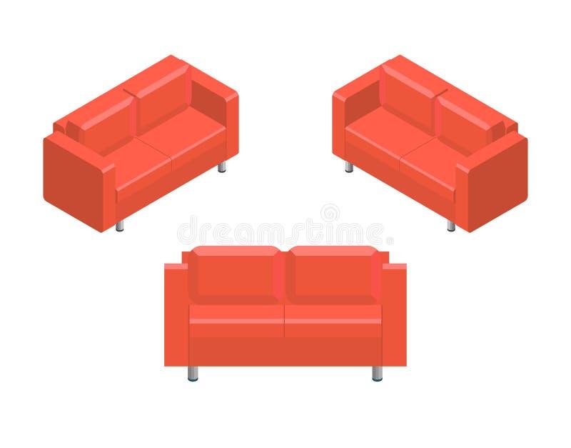 等量家庭沙发传染媒介象 向量例证