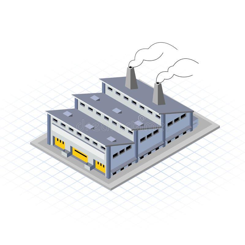 等量工厂厂房传染媒介例证 库存例证