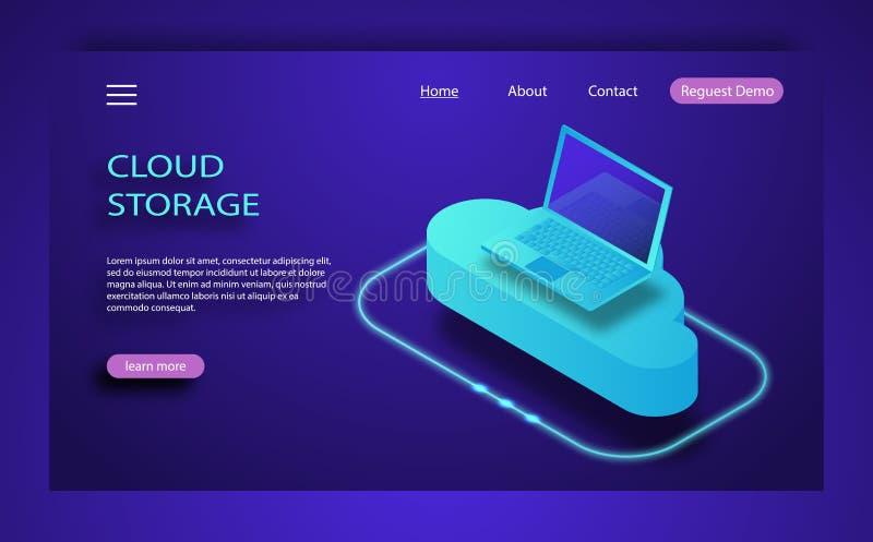 等量平的设计观念云彩技术数据传送和存贮 库存例证