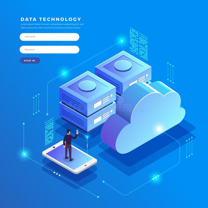 等量平的设计观念云彩技术数据传送和 皇族释放例证