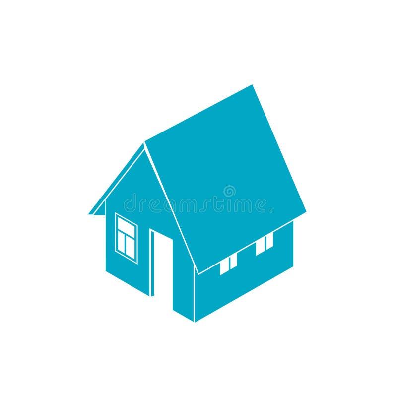 等量房子剪影隔绝了 E 向量例证