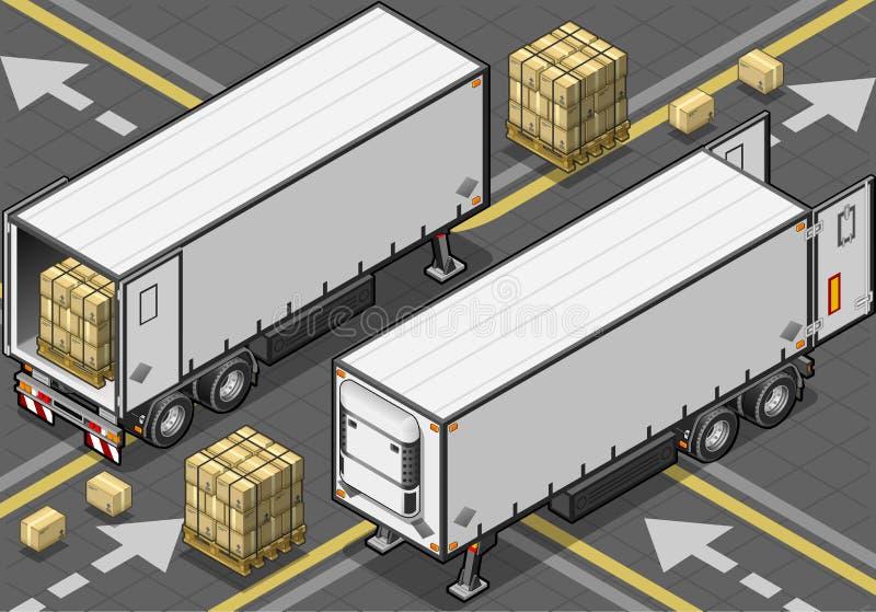 等量拖曳frigo卡车 库存例证