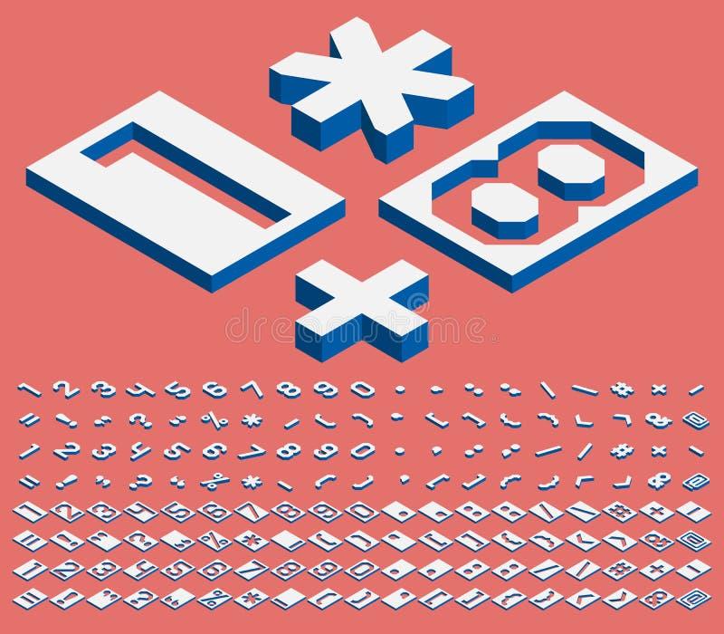 等量数字和标点符号 库存例证