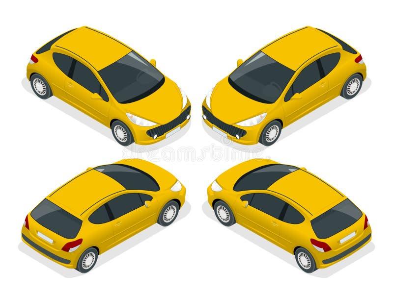 等量斜背式的汽车 等量传染媒介例证 被隔绝反对书写背景和显示的套对象 库存例证