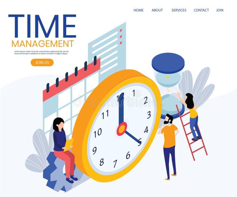 等量时间管理的概念 向量例证