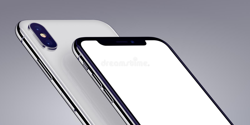等量智能手机大模型特写镜头在灰色背景播种了 库存例证