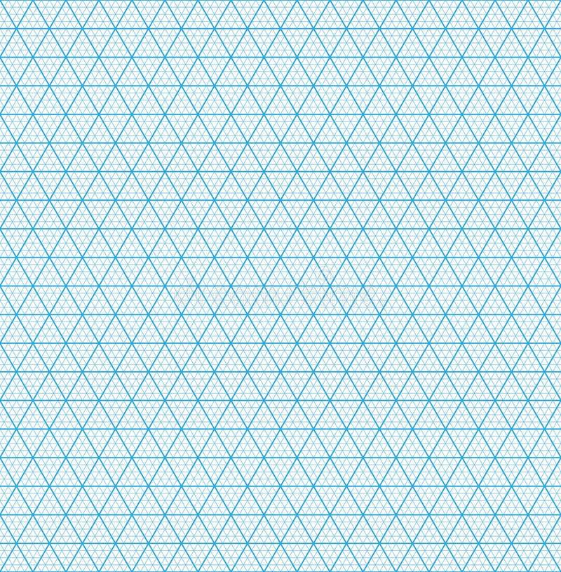 等量栅格纸 无缝的模式 库存例证