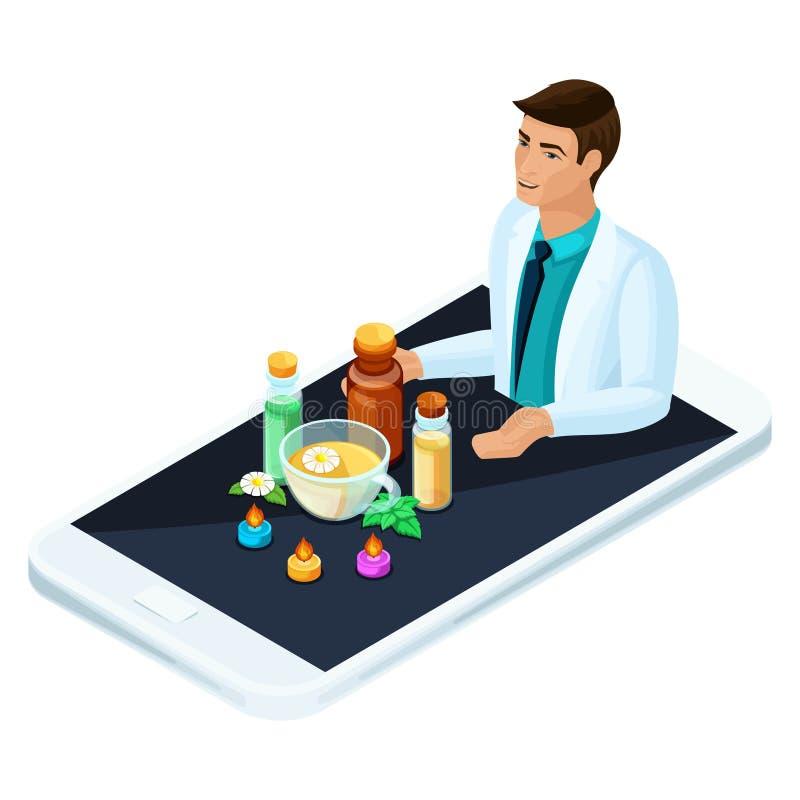 等量概念网上医学,替代医学产品  有建议的医生关于传统医学 库存例证