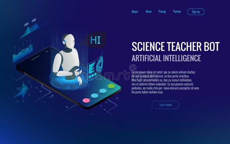 等量理科教员马胃蝇蛆概念 人工智能,知识专门技术智力学会 技术和 库存例证