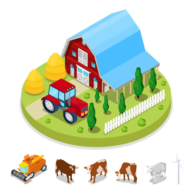 等量生态概念 可再造能源绕环投球法 农业产业 库存例证