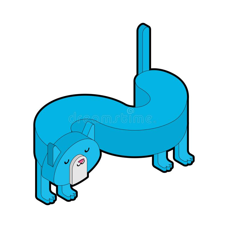 等量的猫 被隔绝的蓝色宠物 也corel凹道例证向量 皇族释放例证