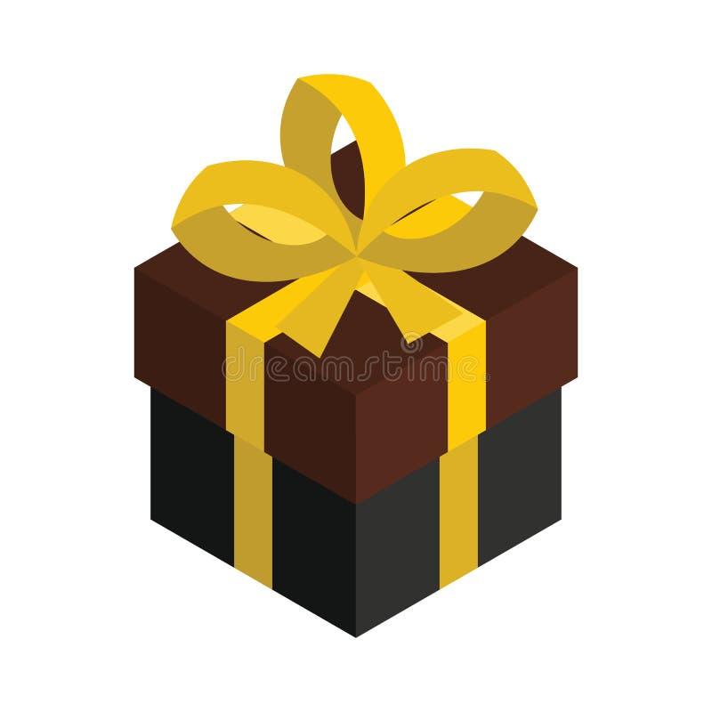 等量的礼物盒3d 把查出的纸板装箱 库存例证