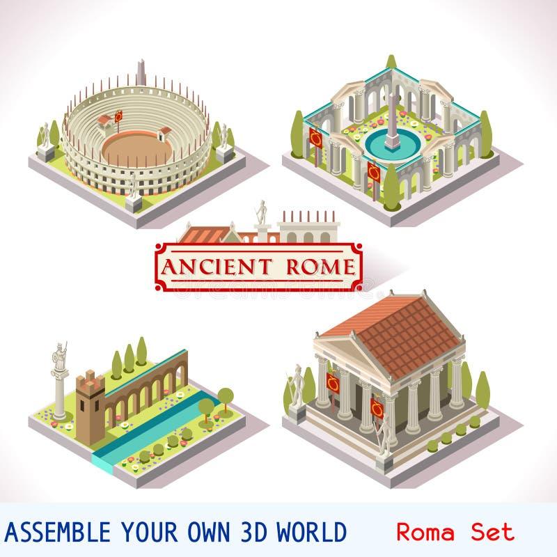 等量罗马04个的瓦片 皇族释放例证