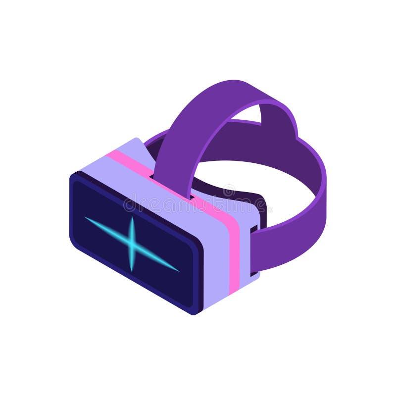 等量虚拟现实玻璃 向量例证