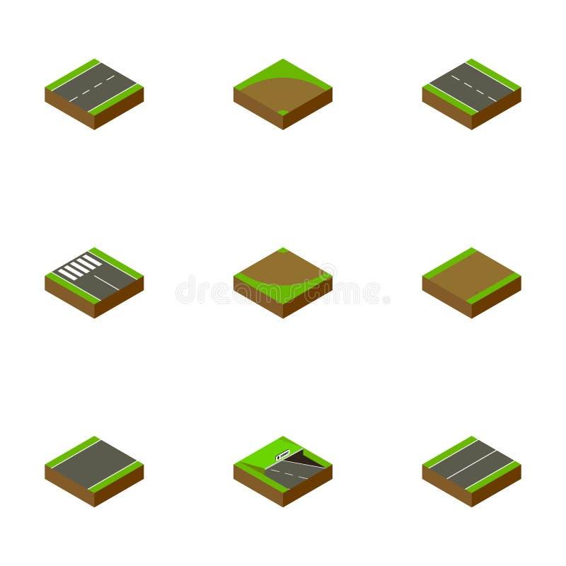 等量路套地下,小径,沙子传染媒介对象 并且包括小条,轮,单边的元素 向量例证