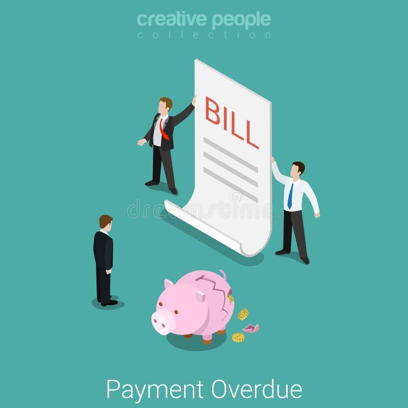 等量付款过期预算金额票据企业平的传染媒介 皇族释放例证