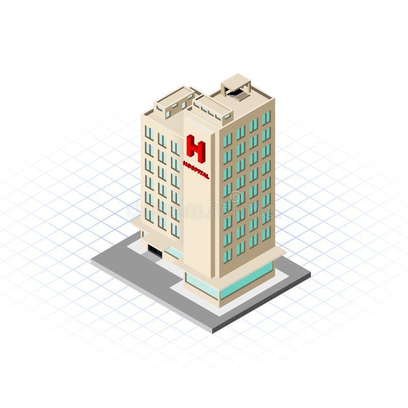 等量医院大厦传染媒介例证 皇族释放例证
