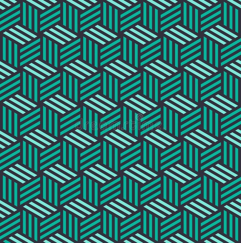 等量3d立方体无缝的样式背景 皇族释放例证