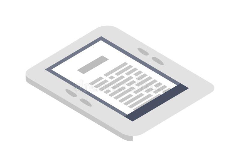 等量e书象传染媒介例证平的设计 库存例证