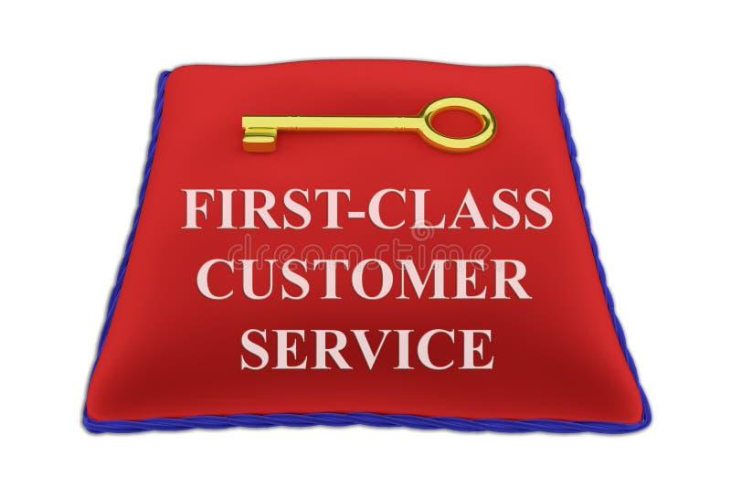 头等顾客服务概念 向量例证