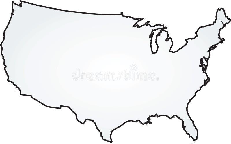 等高线图分级显示指明美国 向量例证